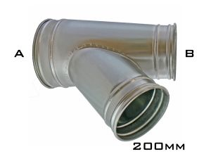 CTV45 - 200mm Clip Branch On Pipe/Reducer