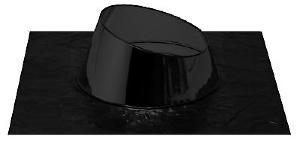 DTWB Twin Wall Black Roof Flashing 5/30 Degree