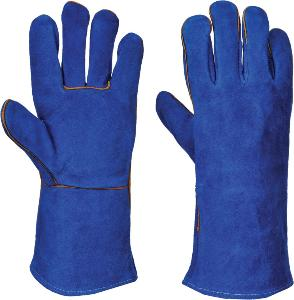 PPE Welding Gauntlet Glove Blue