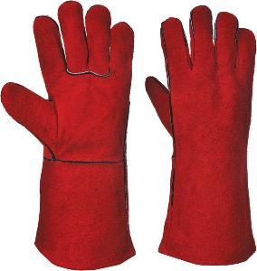 Ppe Welding Gauntlet Glove Red