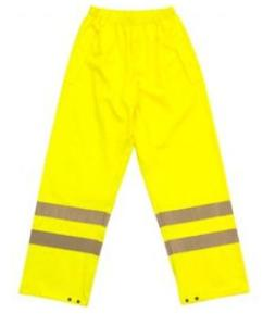 PPE High Visibility Yellow Breathable Trousers
